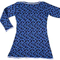 Mosaik Kleid (navy blue-cobalt blue)