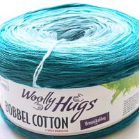 Woolly Hugs Bobbel Cotton 23 Amalfi (türkis-blau)